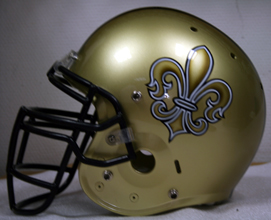 Airbrush footballhelm fleur de lis football team muencheberg