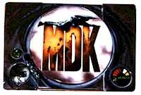 Airbrush-Design Acclaim - MDK auf Sony Playstation