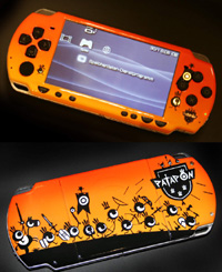 Airbrush Design Patapon auf Sony Playstation Portable_PSP