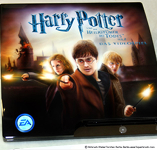 Harry Potter 7 playstation  3 airbrush bemalung