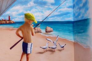 kinderzimmer wandgestaltung mit airbrush wandbemalung kinderzimmer - Wandbemalung Kinderzimmer
