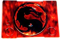 Airbrush Design Mortal Kombat auf Sony Playstation_PSX