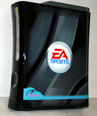 Airbrush Design EA Sports Logo auf Xbox 360