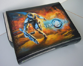 Airbrush Design Timeshift auf XBox360